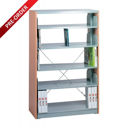 1 BAY DOUBLE SIDED C/W 5 PCS OF SHELF END PANE (ST-E0113)