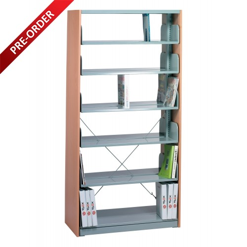 1 BAY DOUBLE SIDED C/W 6 PCS OF SHELF  END PANEL (ST-E0117)