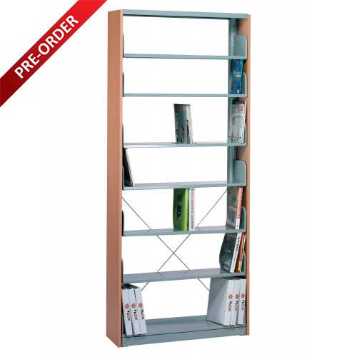 1 BAY SINGLE SIDED C/W 7 PCS OF SHELF & END PANEL (ST-E0119)