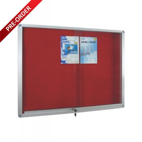 ALUMINIUM FRAME VELVET BOARD WITH SLIDING GLASS CABINET (VG23, 34, 45, 46,48)