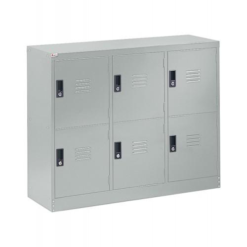 HALF HEIGHT 6 DOOR STEEL LOCKER (ST-H6D)