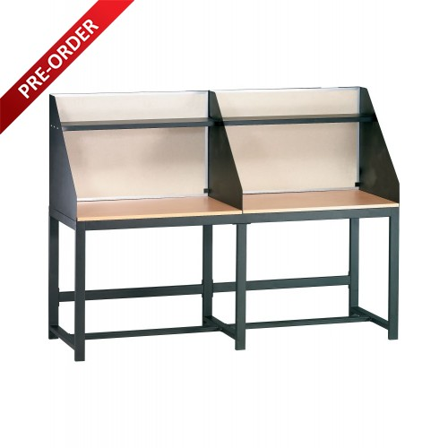 2 SEATER STUDY CARREL (WK-E0136)