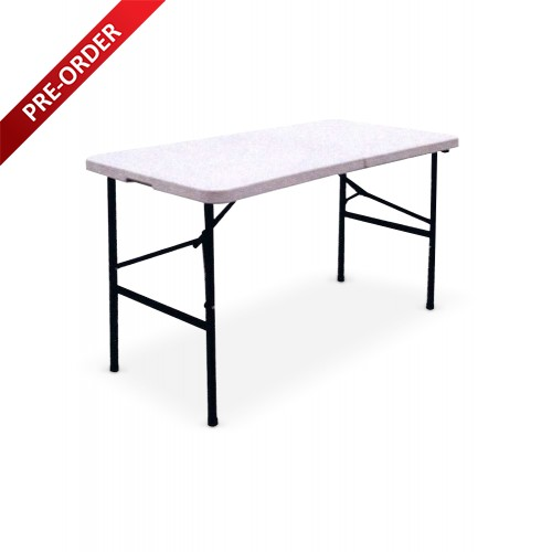 BANQUET 4FT RECTANGULAR PLASTIC TOP FOLDING TABLE (BQ-1262RF)