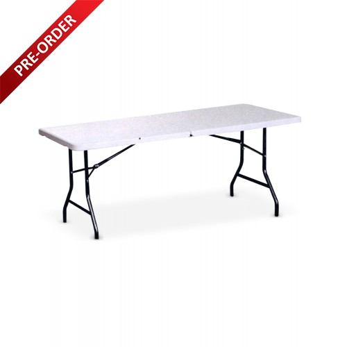 BANQUET 6FT RECTANGULAR PLASTIC TOP FOLDING TABLE (BQ-1874RF)
