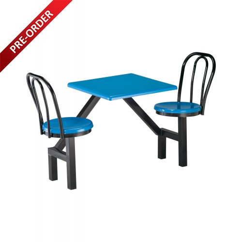 2 SEATER FIBREGLASS TABLE WITH BACKREST (NON-SWIVEL) (RD-E0146)