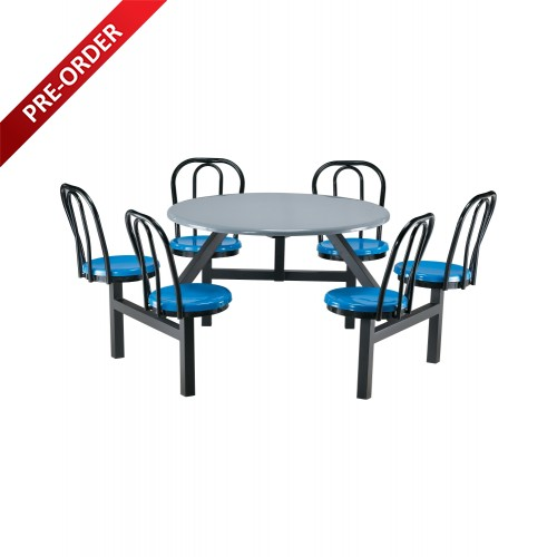 6 SEATER FIBREGLASS TABLE WITH BACKREST (NON-SWIVEL) (RD-E0148)