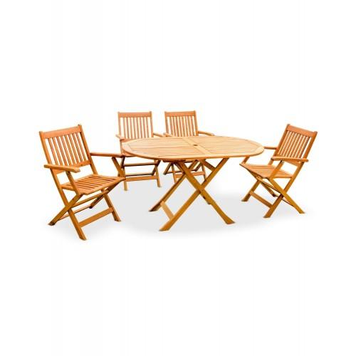 CAFE / GARDEN SET (HK MANHATTAN ARM CHAIR + HK CHICAGO OVAL TABLE (4+1))