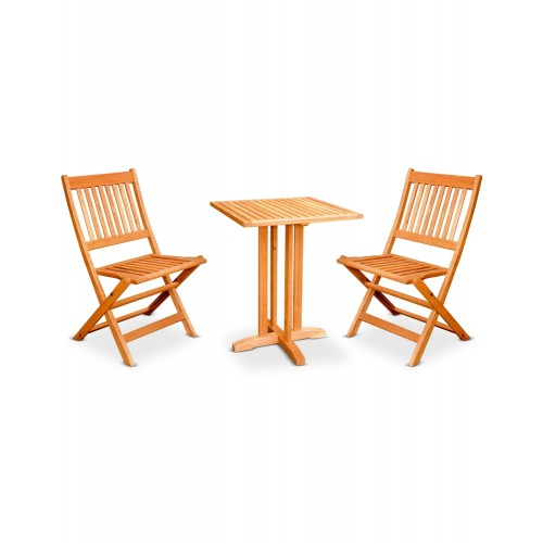 CAFE / GARDEN SET (HK MANHATTAN SIDE CHAIR + HK BALCONY SQUARE TABLE (2+1))