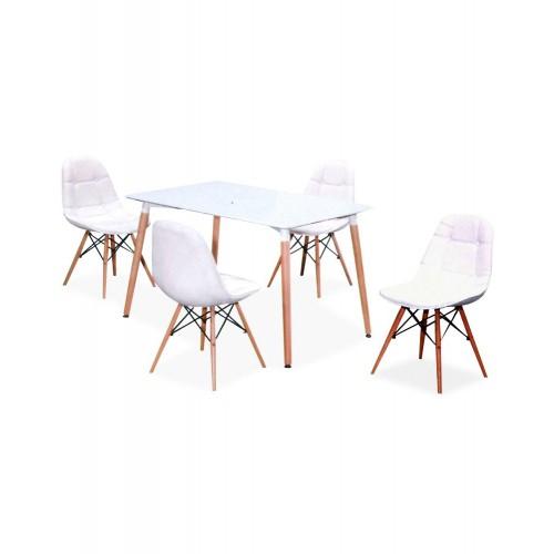 CAFE / DINING SET (DT-1280 + BC-419 (4+1))