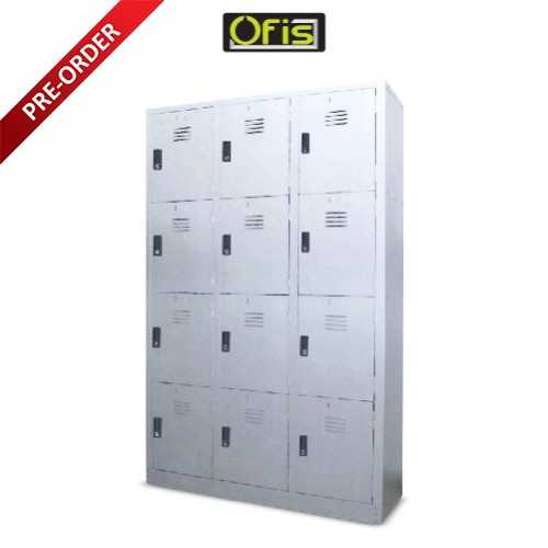 12 COMPARTMENTS STEEL LOCKER (OF-S108/AS)