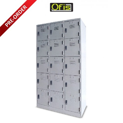 15 COMPARTMENTS STEEL LOCKER (OF-S126/AS)