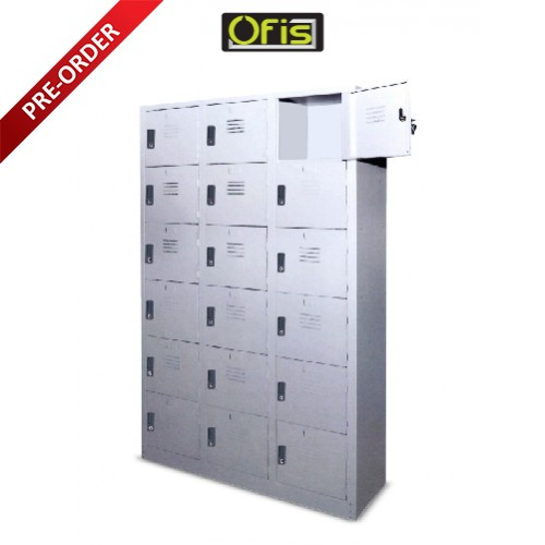 18 COMPARTMENTS STEEL LOCKER (OF-S115/A OR OF-115/AS)