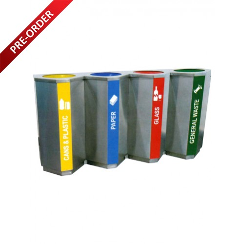 STAINLESS STEEL RECYCLE BIN (SUGO 1024/4)