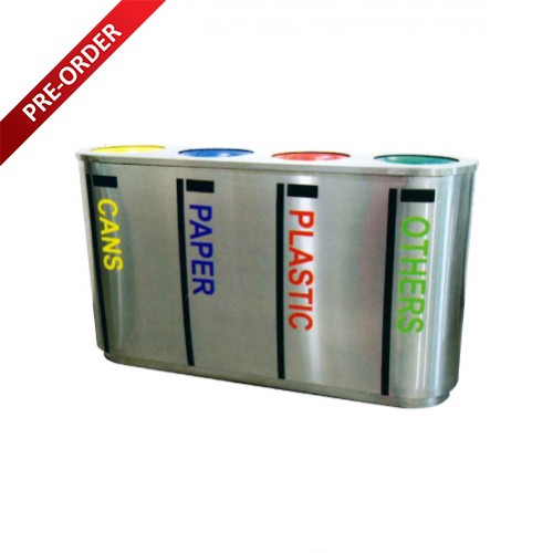 STAINLESS STEEL RECYCLE BIN (SUGO 1028/4)